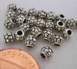 JW10761 Tibetan Silver Spacer Beads - Barrel Shape - Antique Silver Colour - 4.5x4.1mm.  Approx 25 b